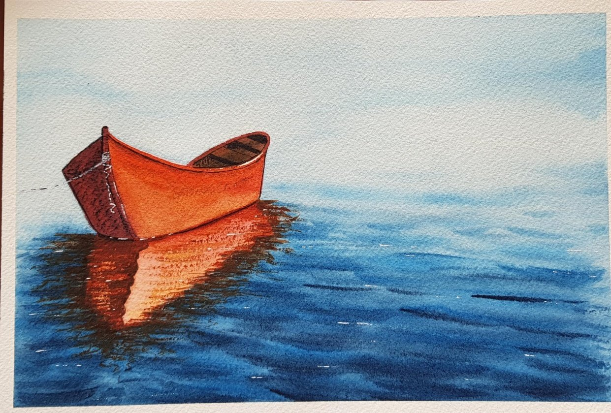 My first boat :) - student project