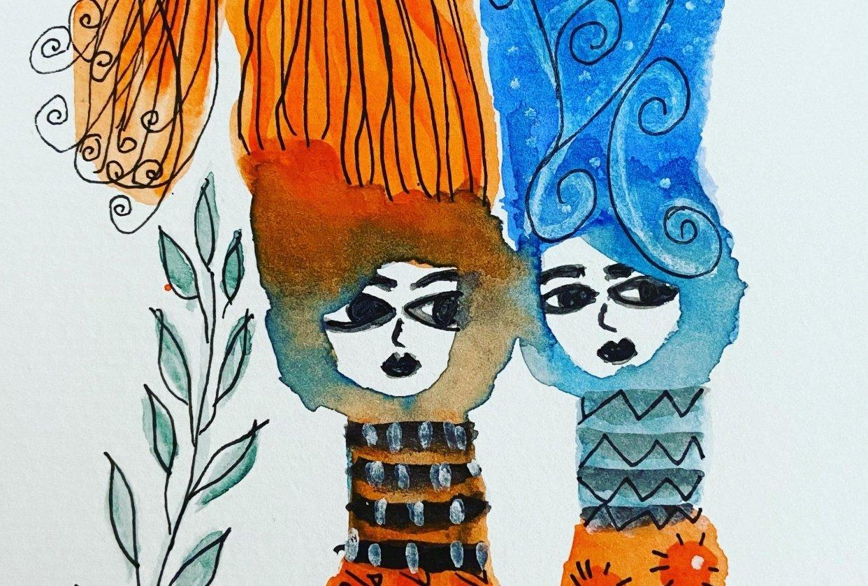 Meninas de laranja - student project