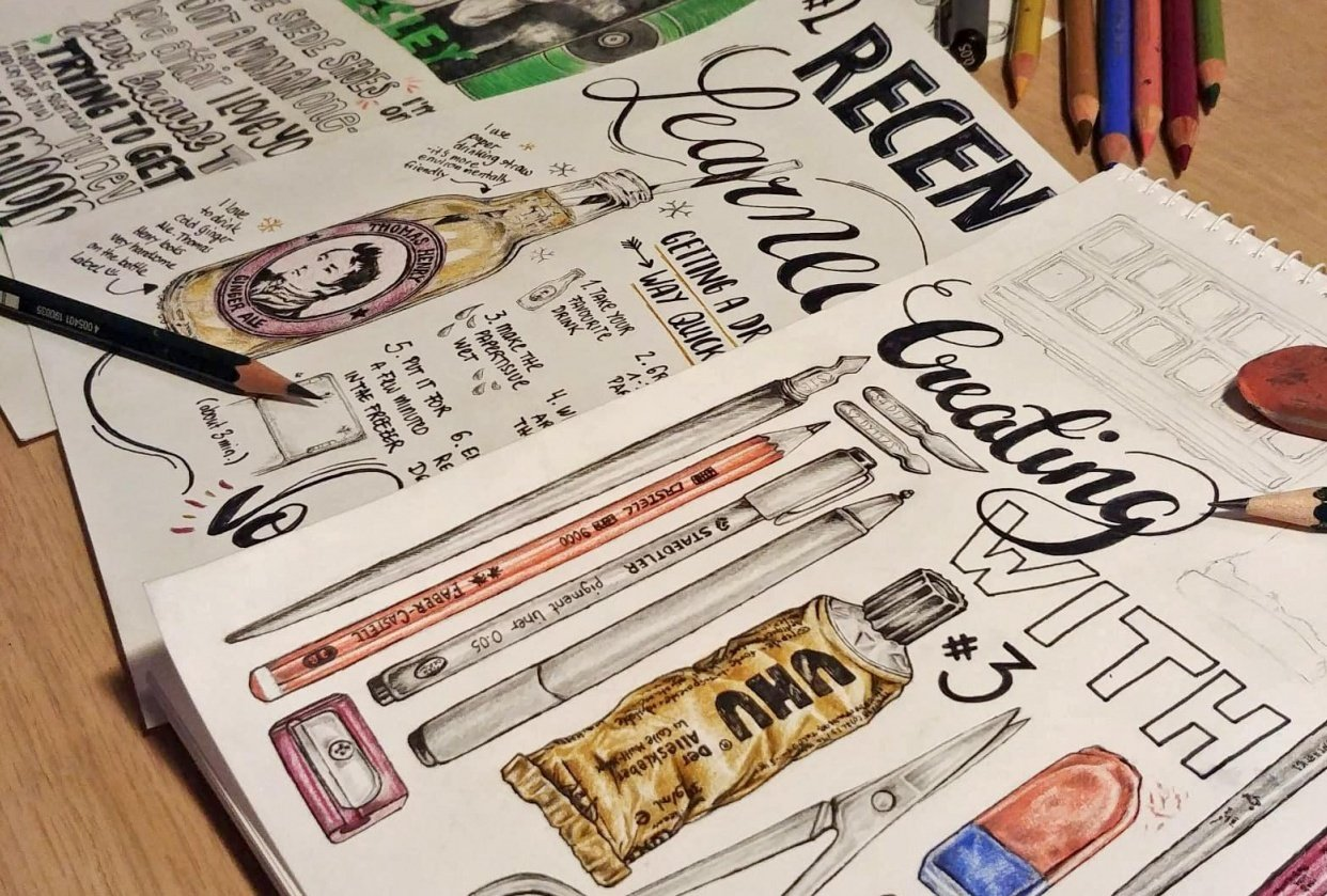 Illustrated Journaling - student project