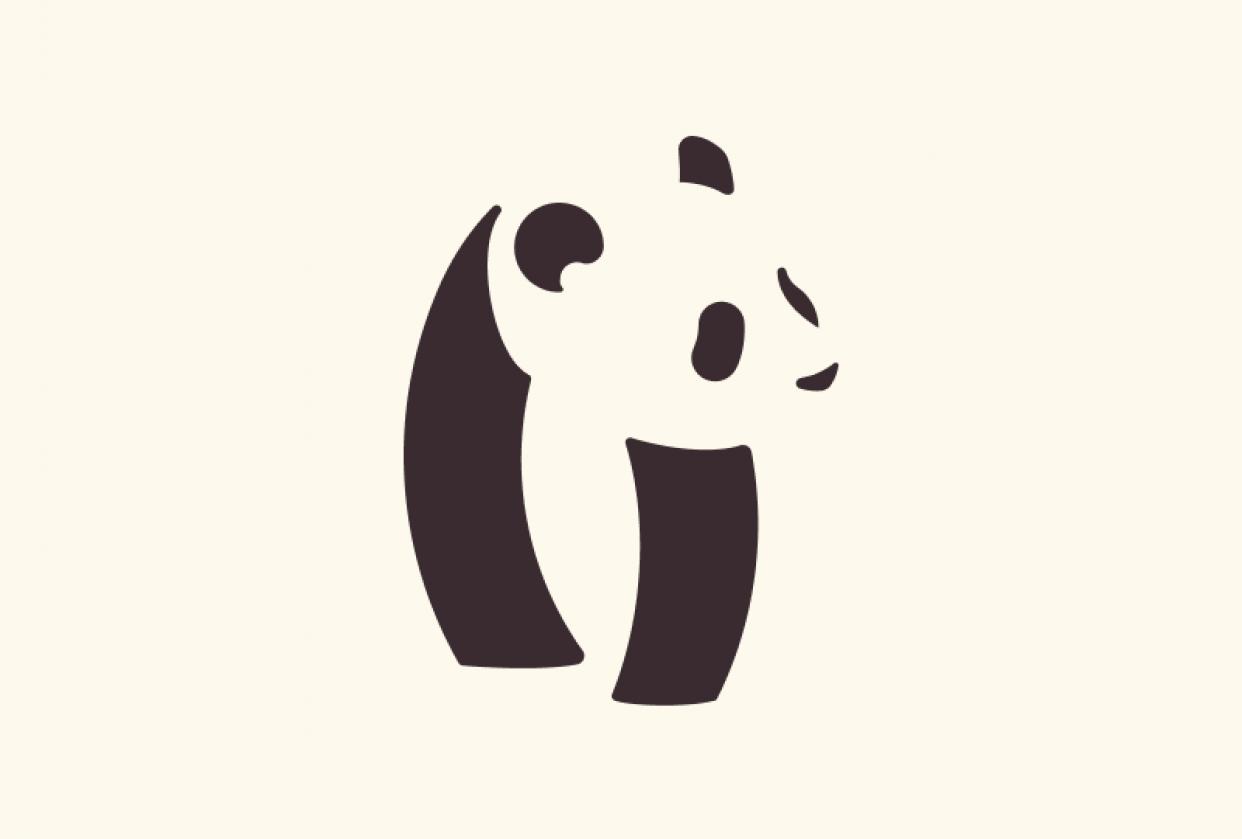 Panda logo - student project