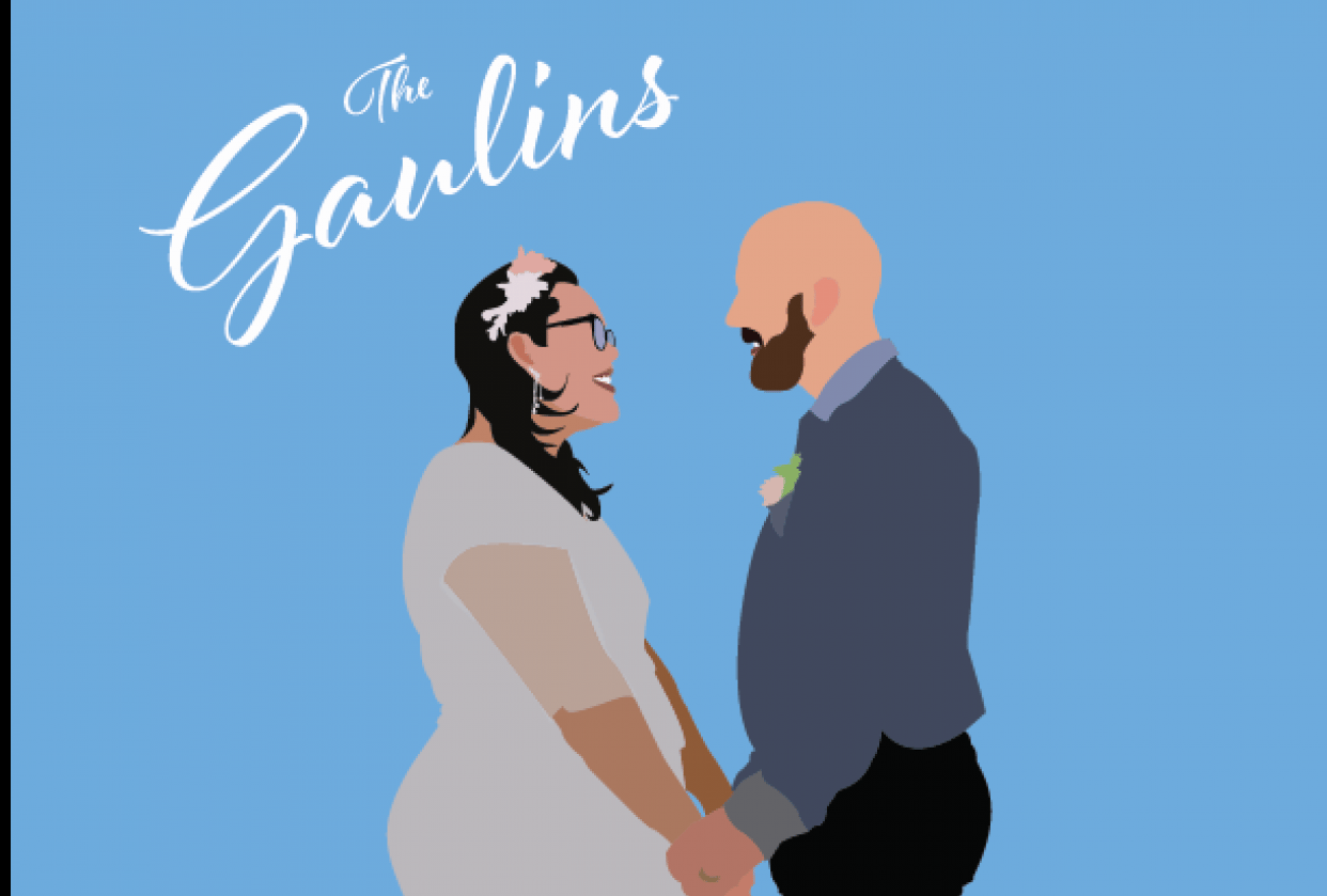 Illustrated Wedding Photo - student project