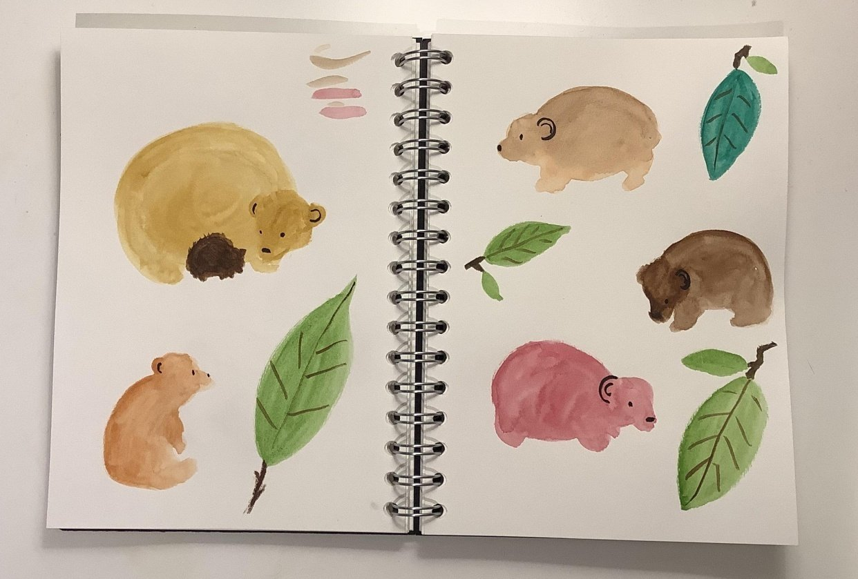 Page of bears - student project