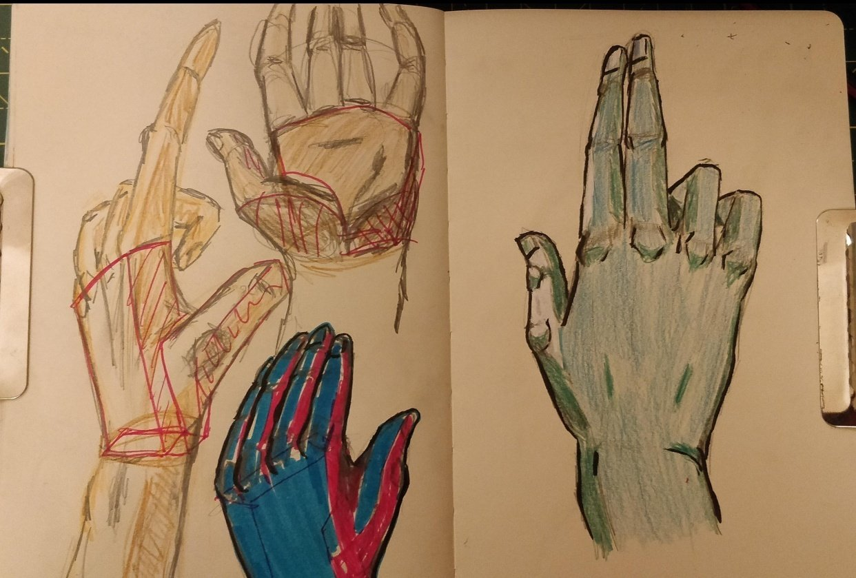 Hand tries - student project