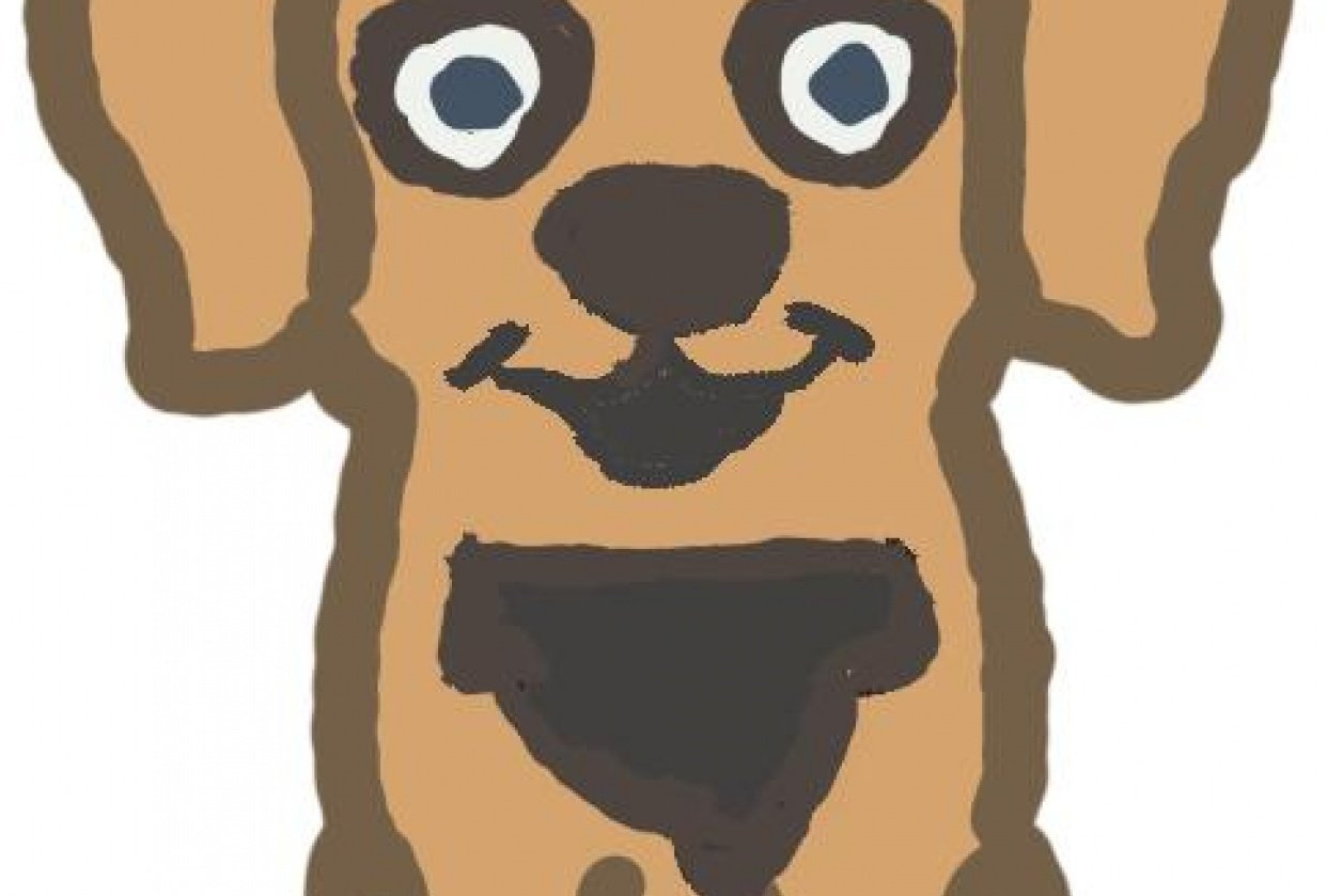 A very muddy dog - student project