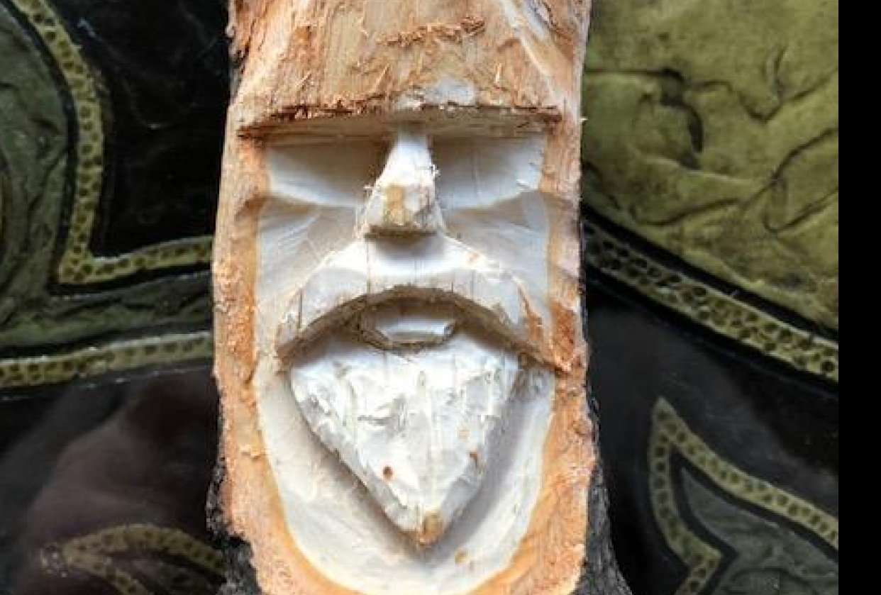 Wood Spirit from branch - student project