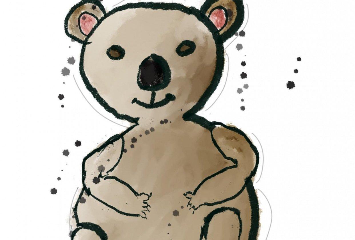 Sketchy Doodle Style Koala - student project