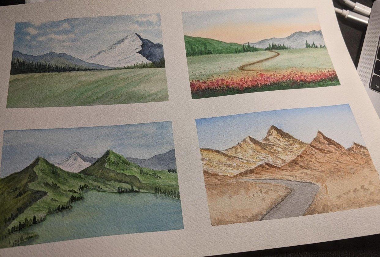 Simple landscapes - student project