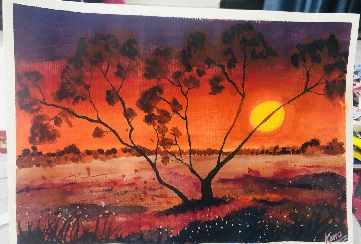 Amazing sunset! - student project