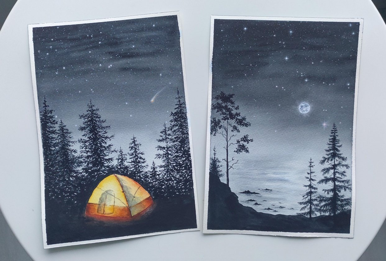 Starry nights - student project