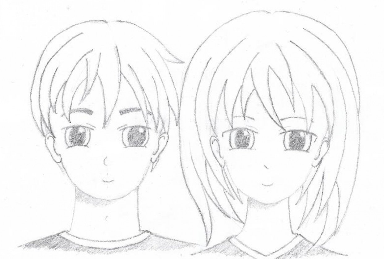 First Manga boy and girl - student project