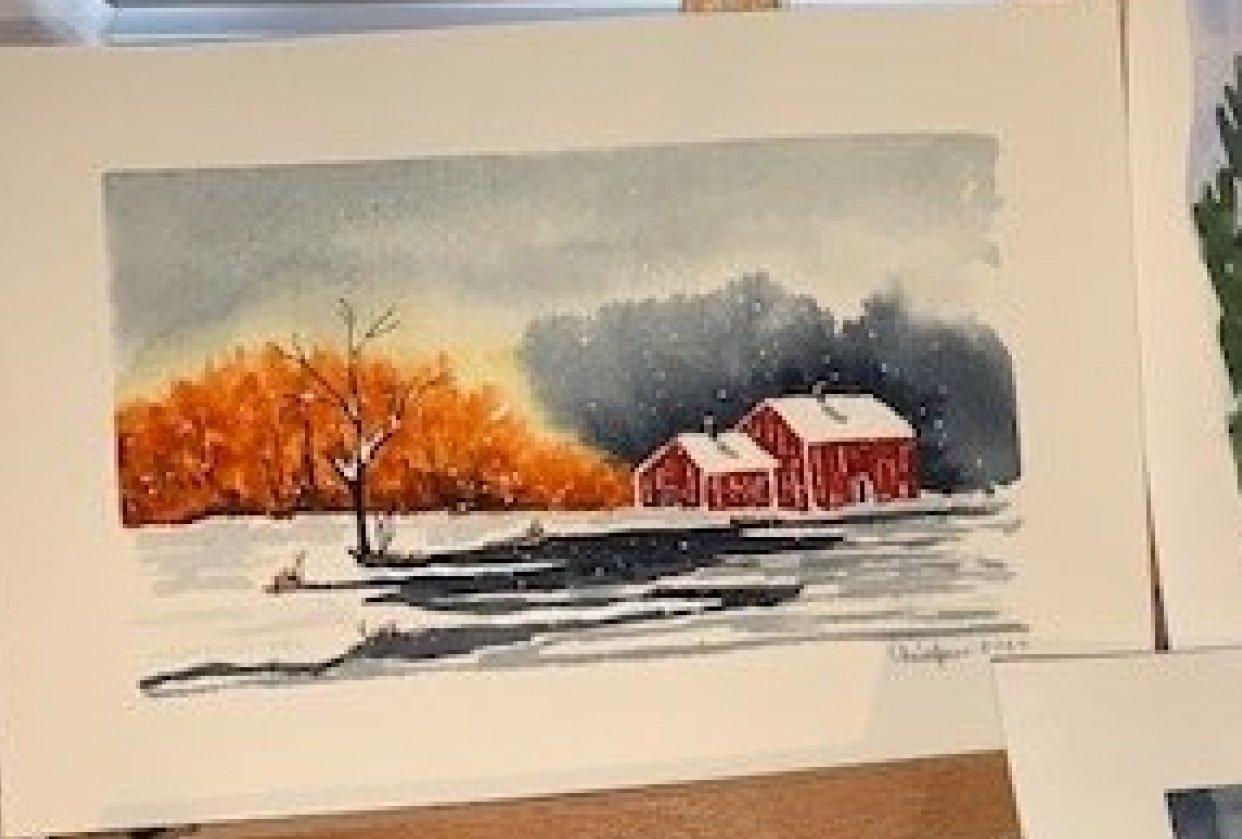 Delicate Winter Landscape - student project