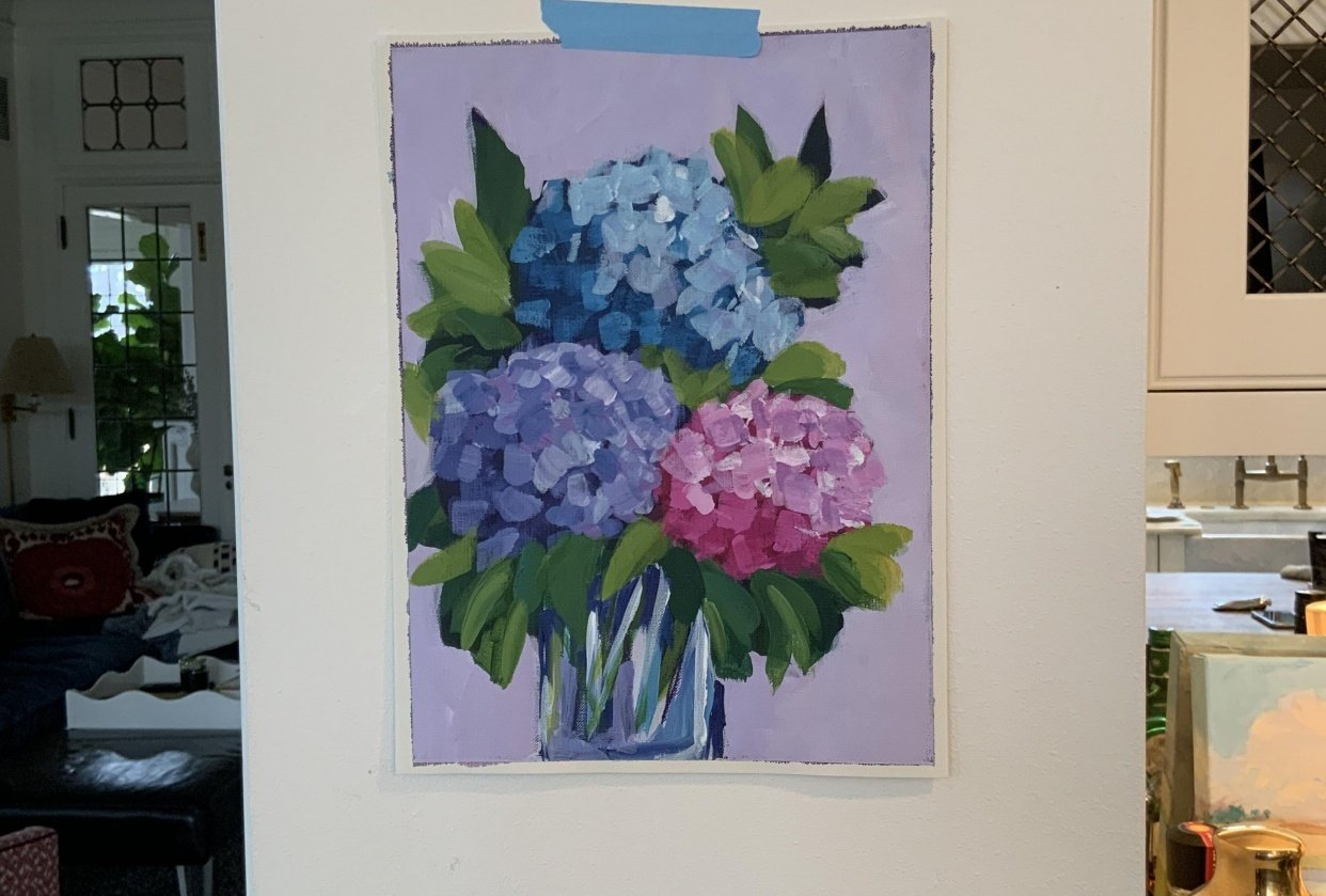 Abstract Hydrangeas - student project