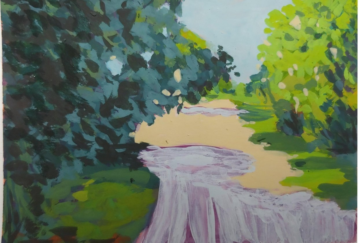 Lane in Gouache - student project