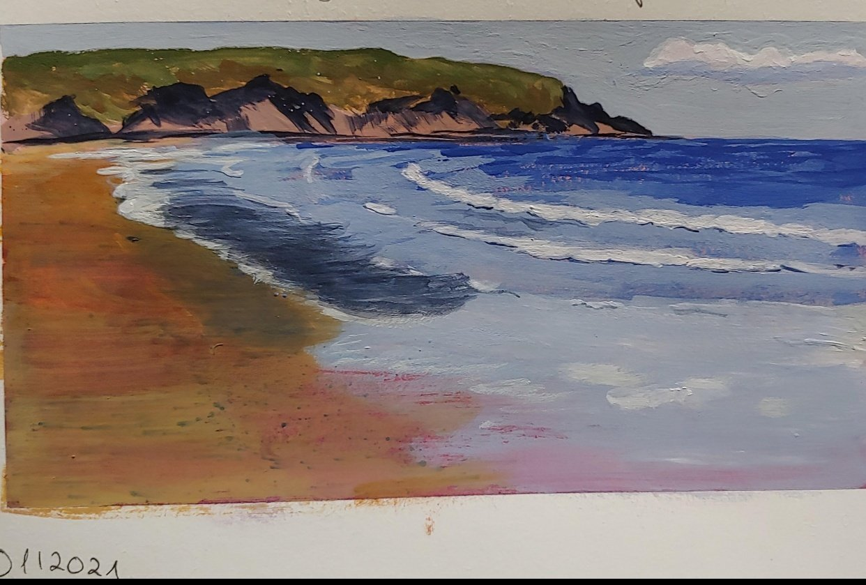 Beach in Gouache - student project