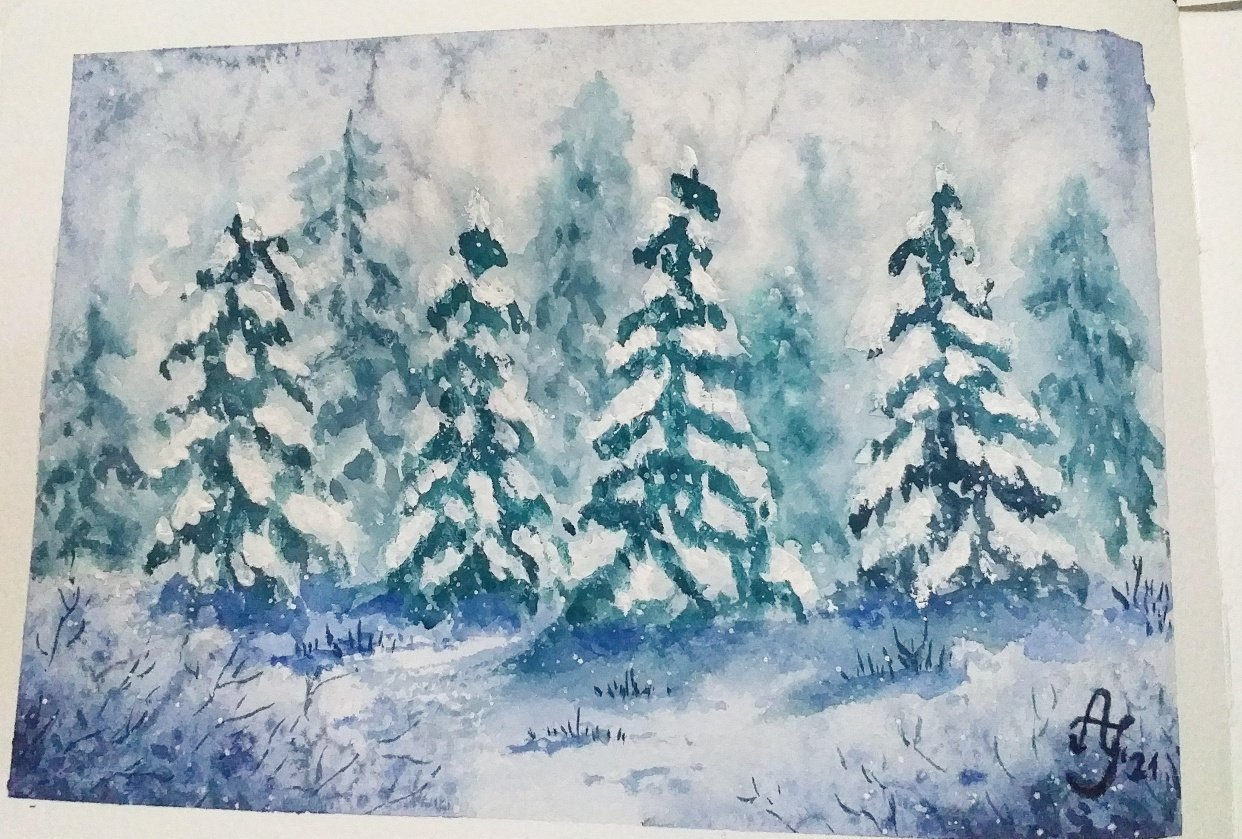 Snowy forest - student project