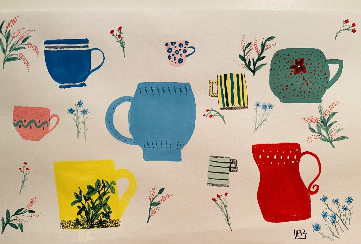 Simple Things in Gouache - student project