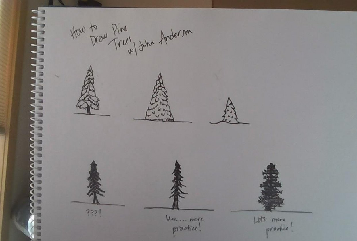 How to Draw Pine Trees - student project