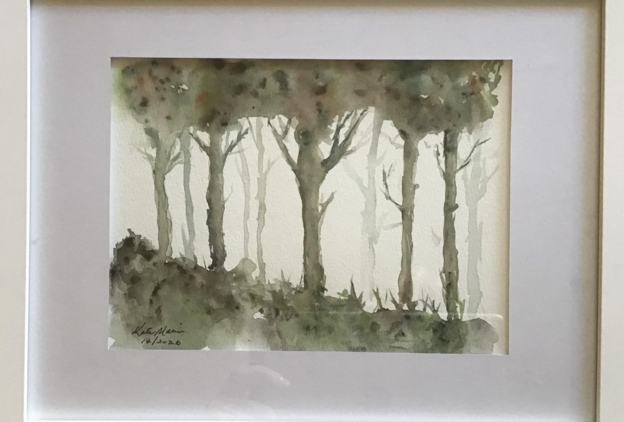 Beginner tutorial - loose trees from Jane Davies - student project