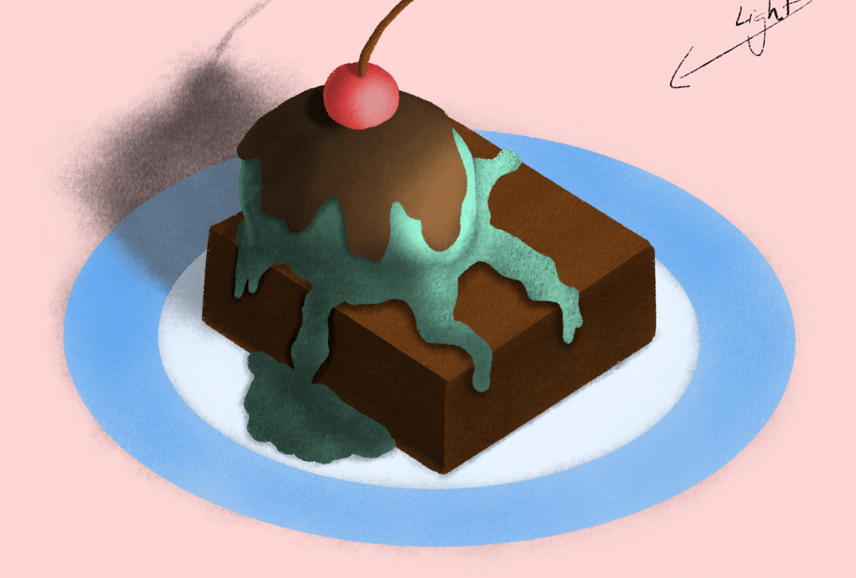 Brownie + Ice cream - student project