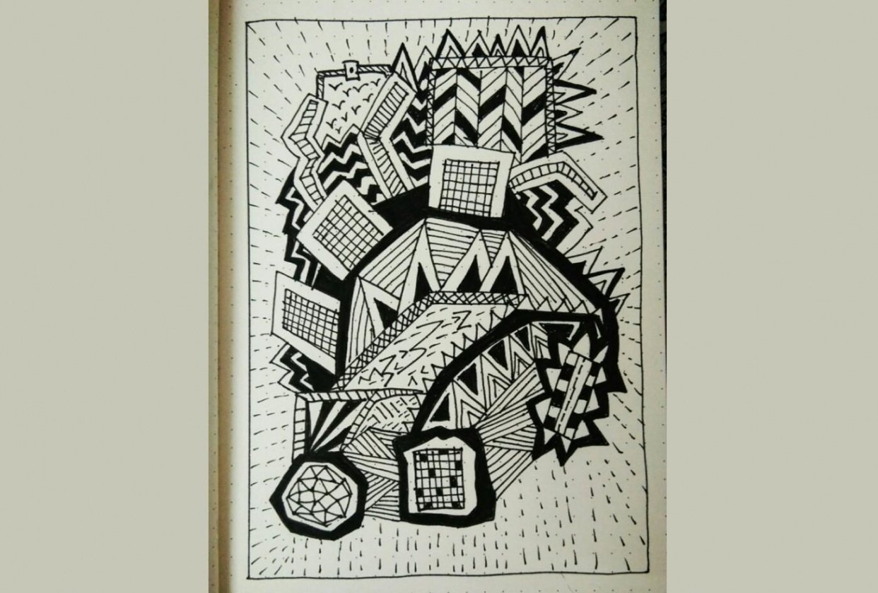 First doodle with a proper pen. MICRON 08 - student project