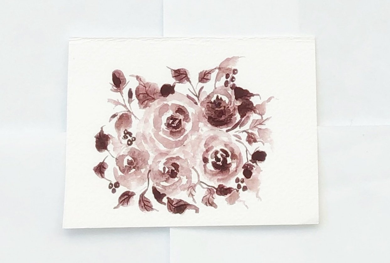 Monochrome rose bouquet - student project