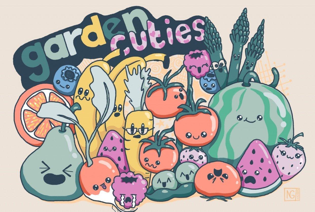 Garden Cuties doodles - student project