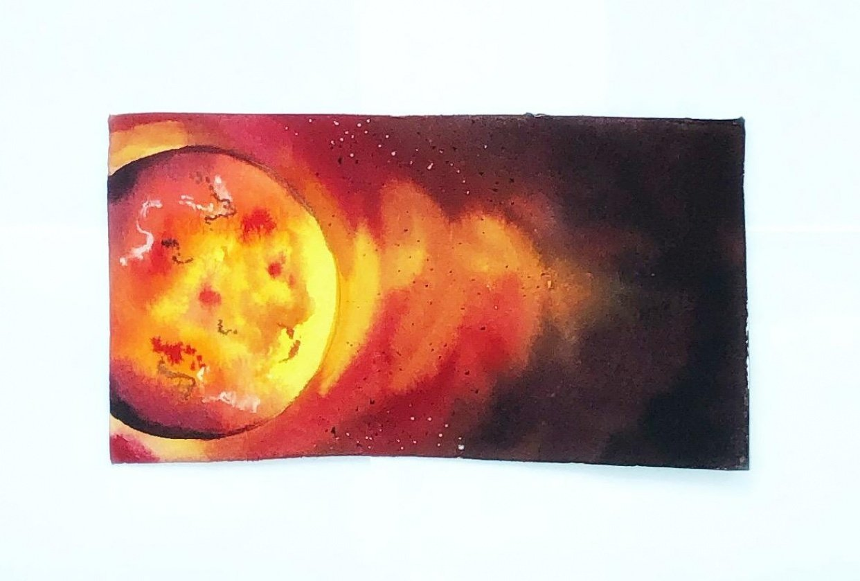 Watercolor sun - student project
