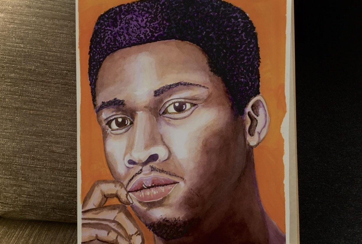 Dark portrait - student project