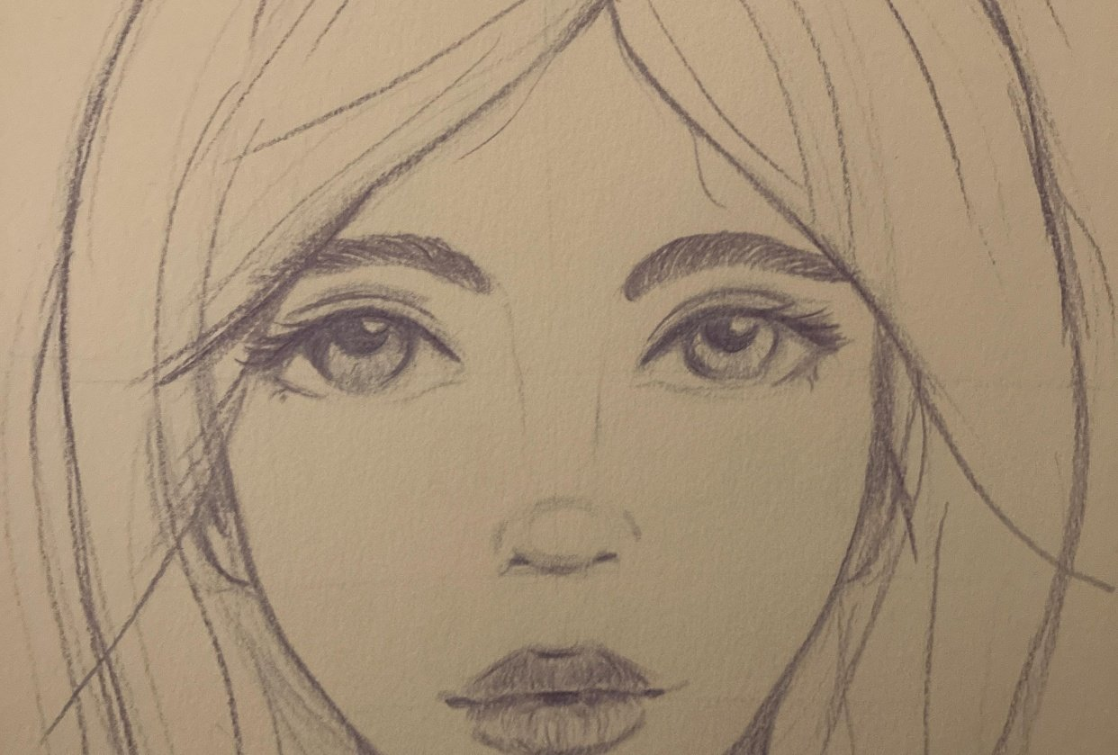 Whimsical face - student project