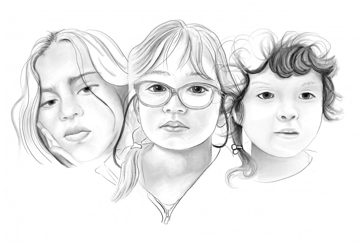 3 sisters/Digital drawing - student project