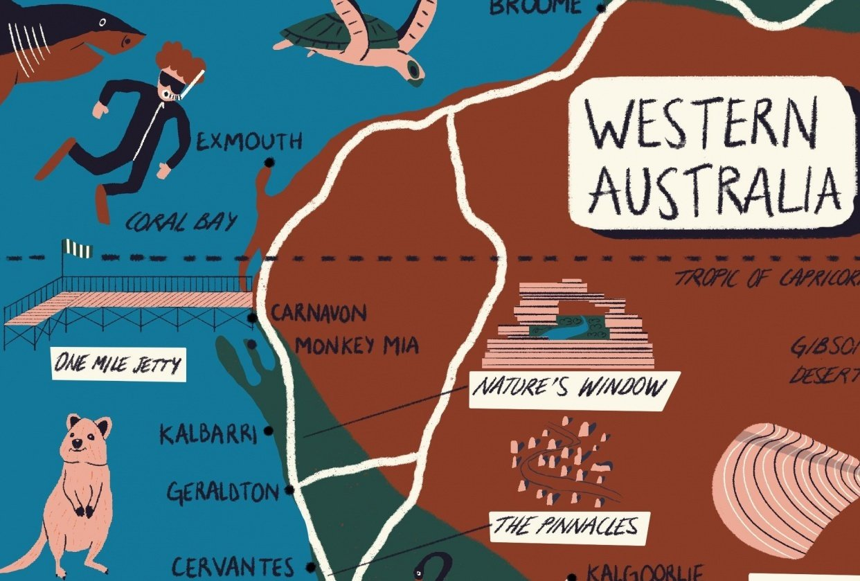 Western Australia Map - student project