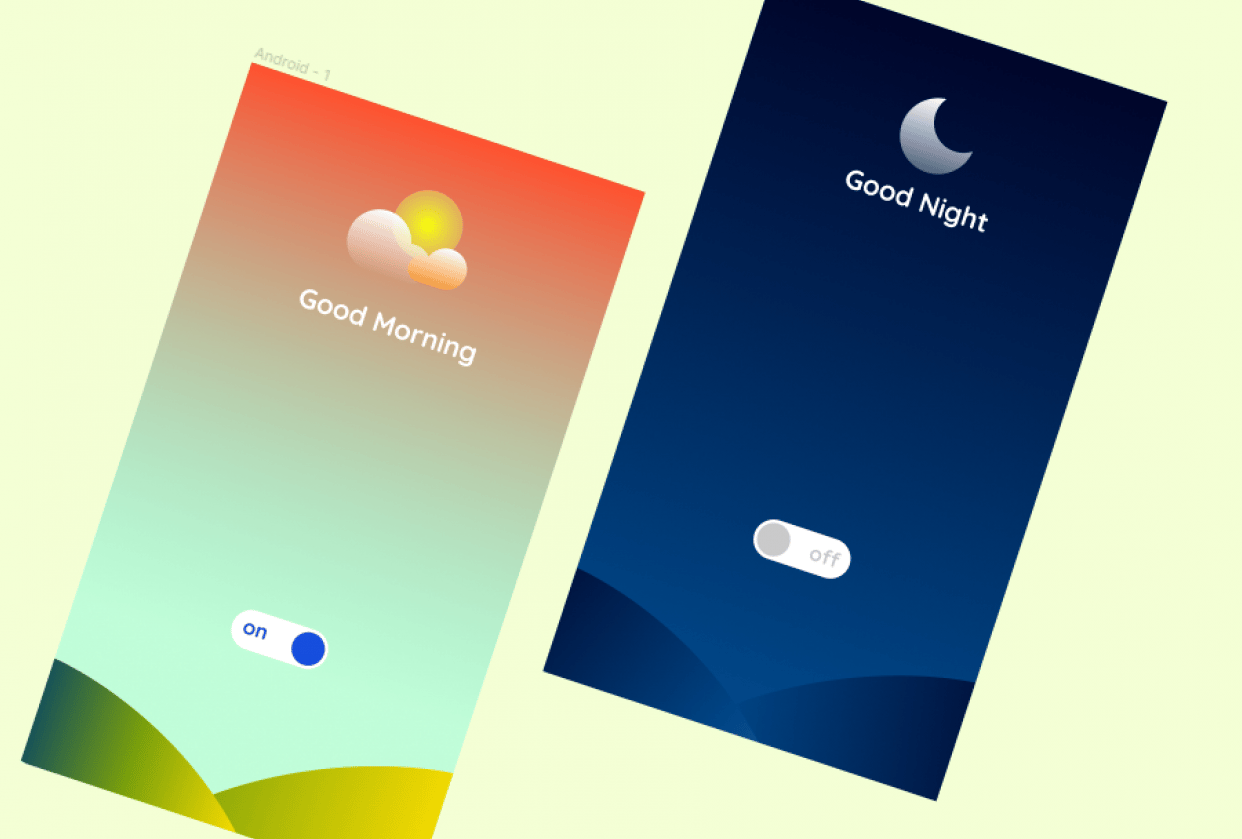 Morning & Night with Icons and Effect - student project