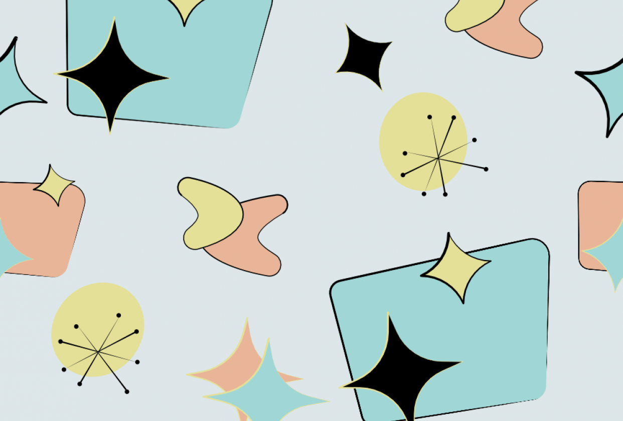 Mid Centruy Modern Repeating Pattern - student project