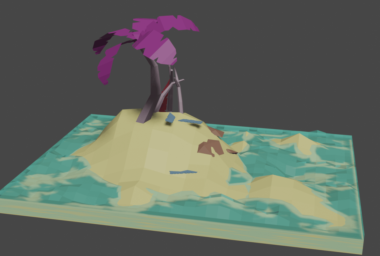 Low poly beach - student project