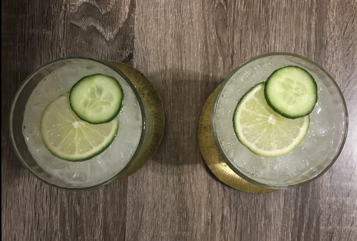 Cucumber Lime Sour & Blueberry Lemonade - student project