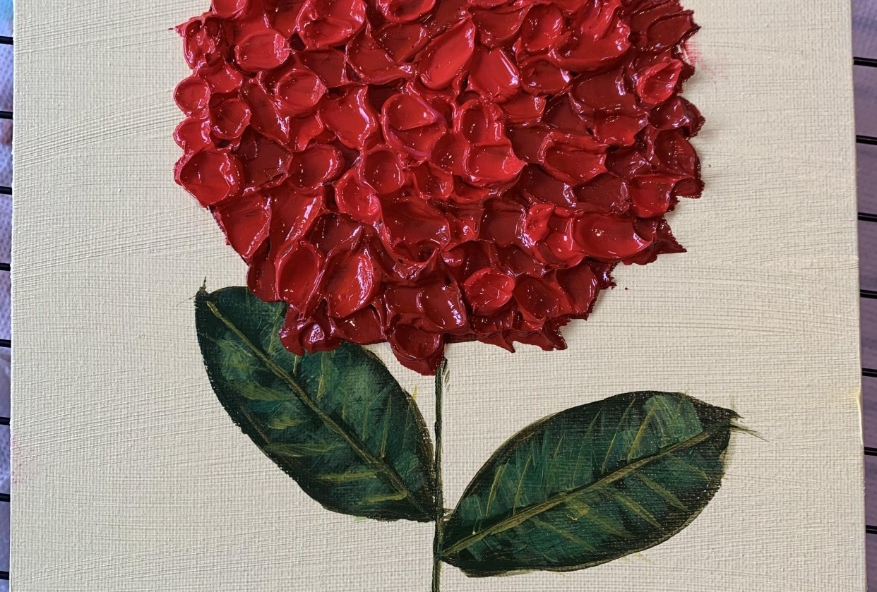 Red Hydrangea - student project