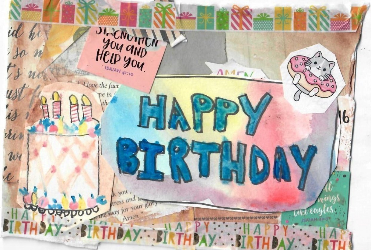 Birthday Card For a Friend - student project