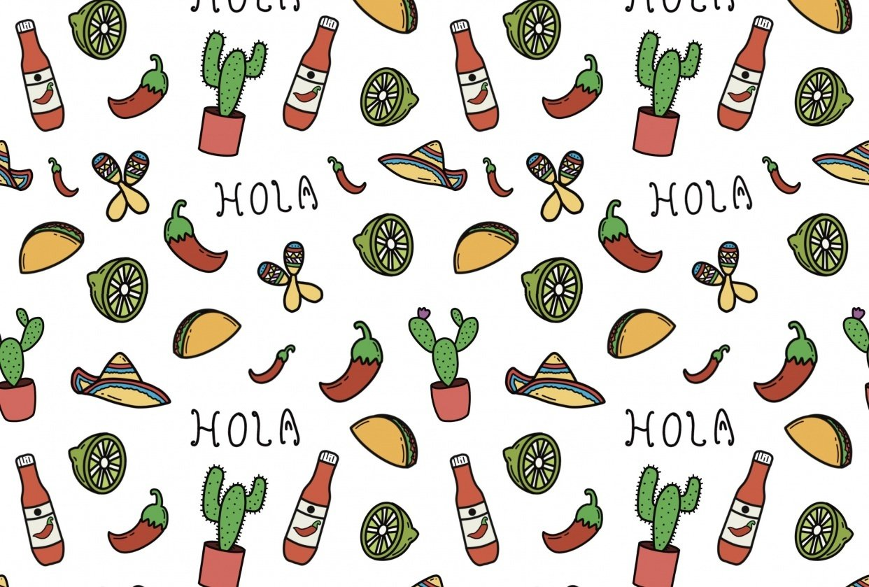Mexico themed pattern - student project