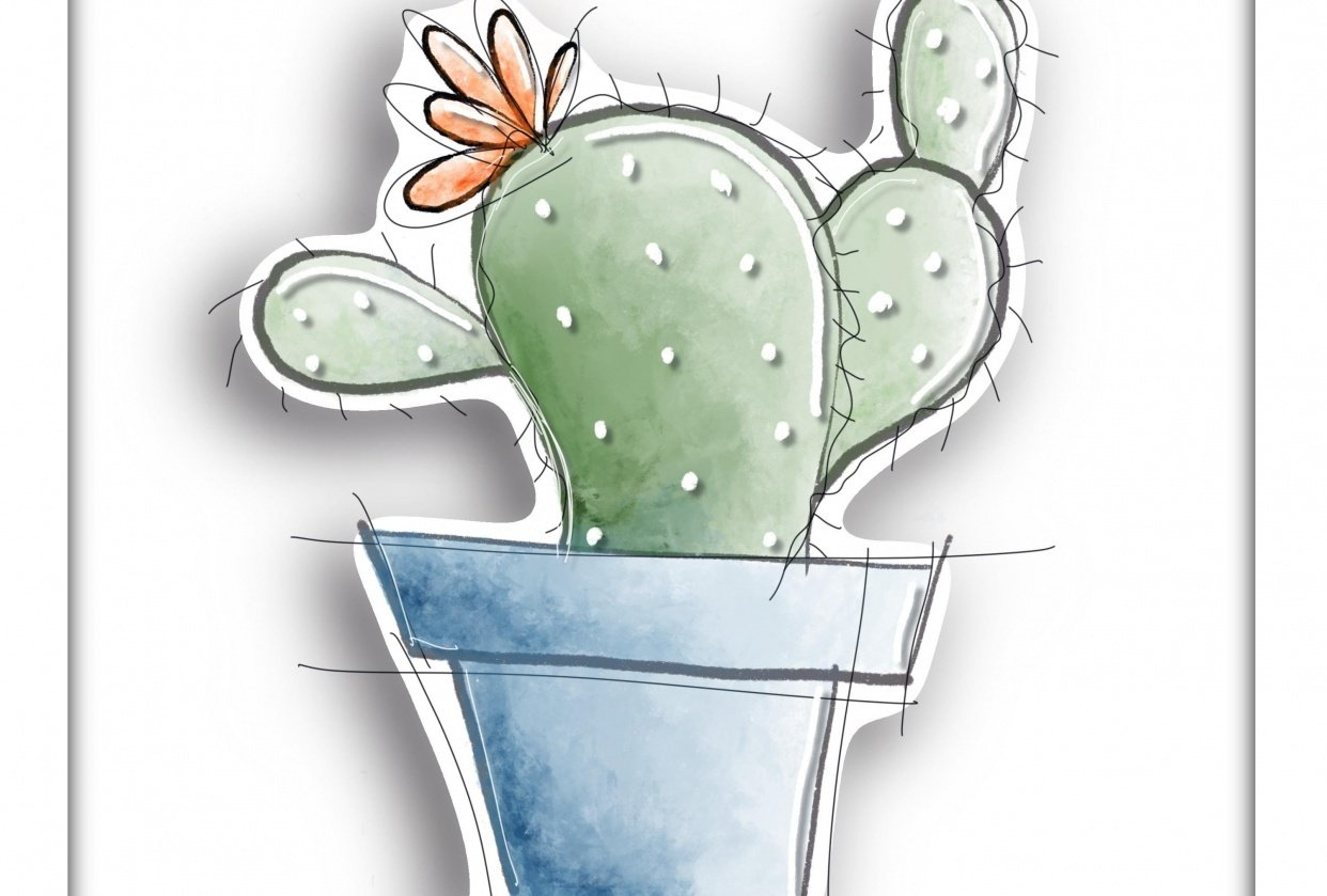 3D Cactus cut out - student project