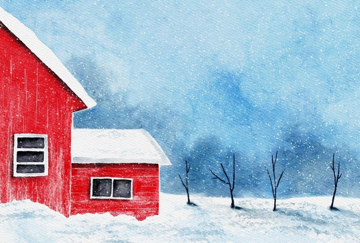 Winter Landscapes with Watercolor - student project