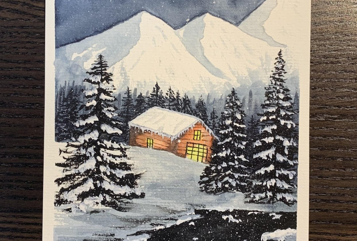 Snowy mountain - student project