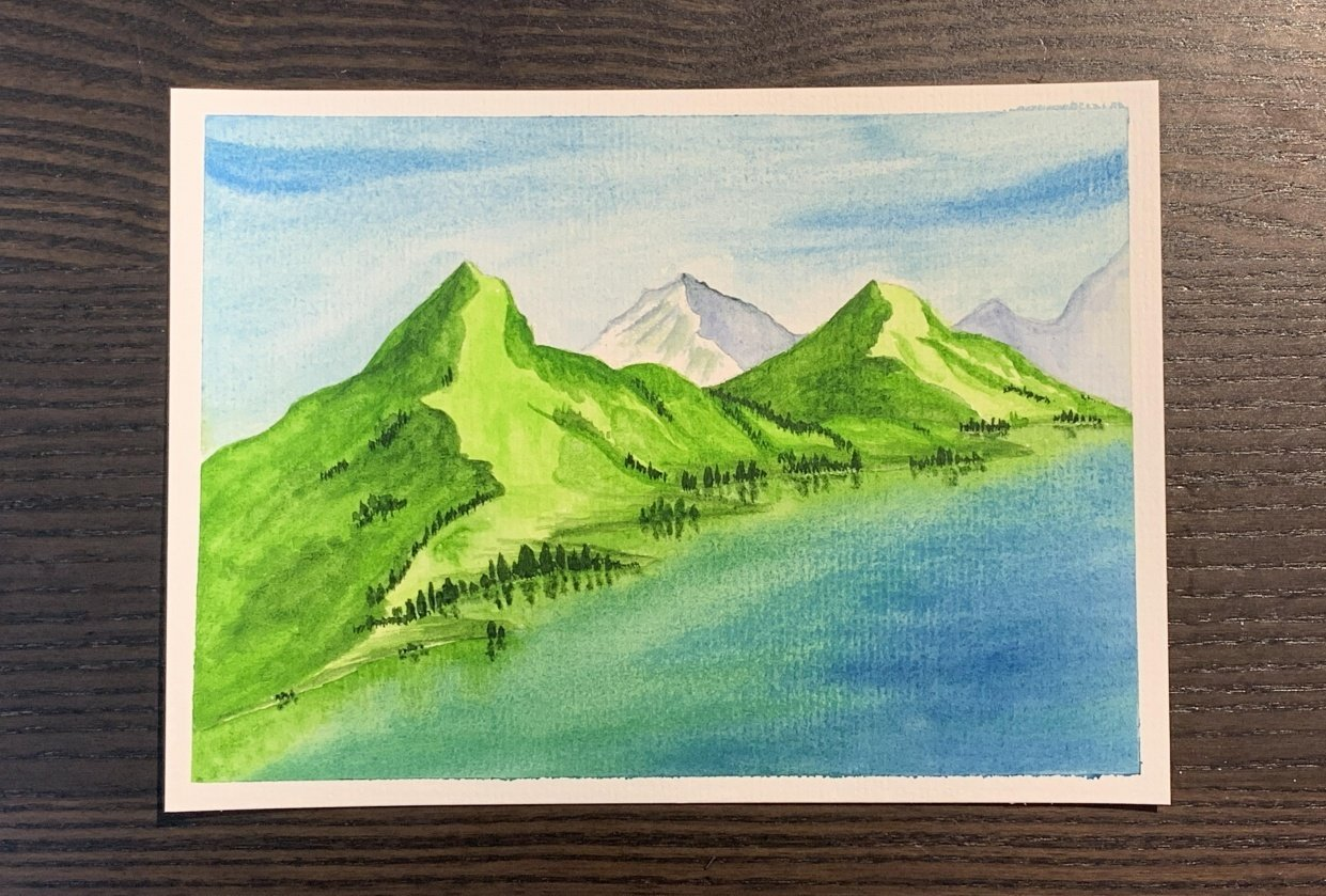 Watercolour landscapes - student project