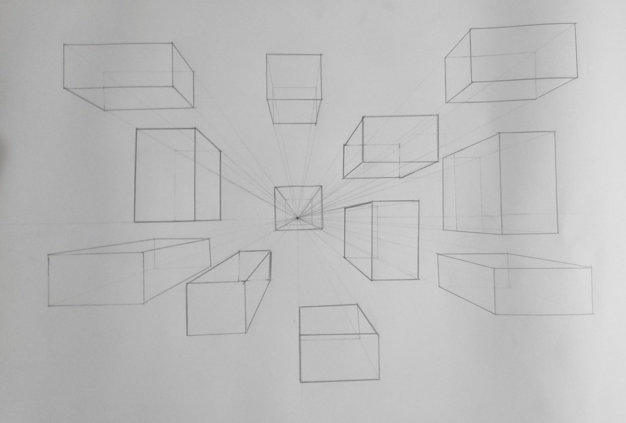 Perspective Basics for 3D Sketching - student project