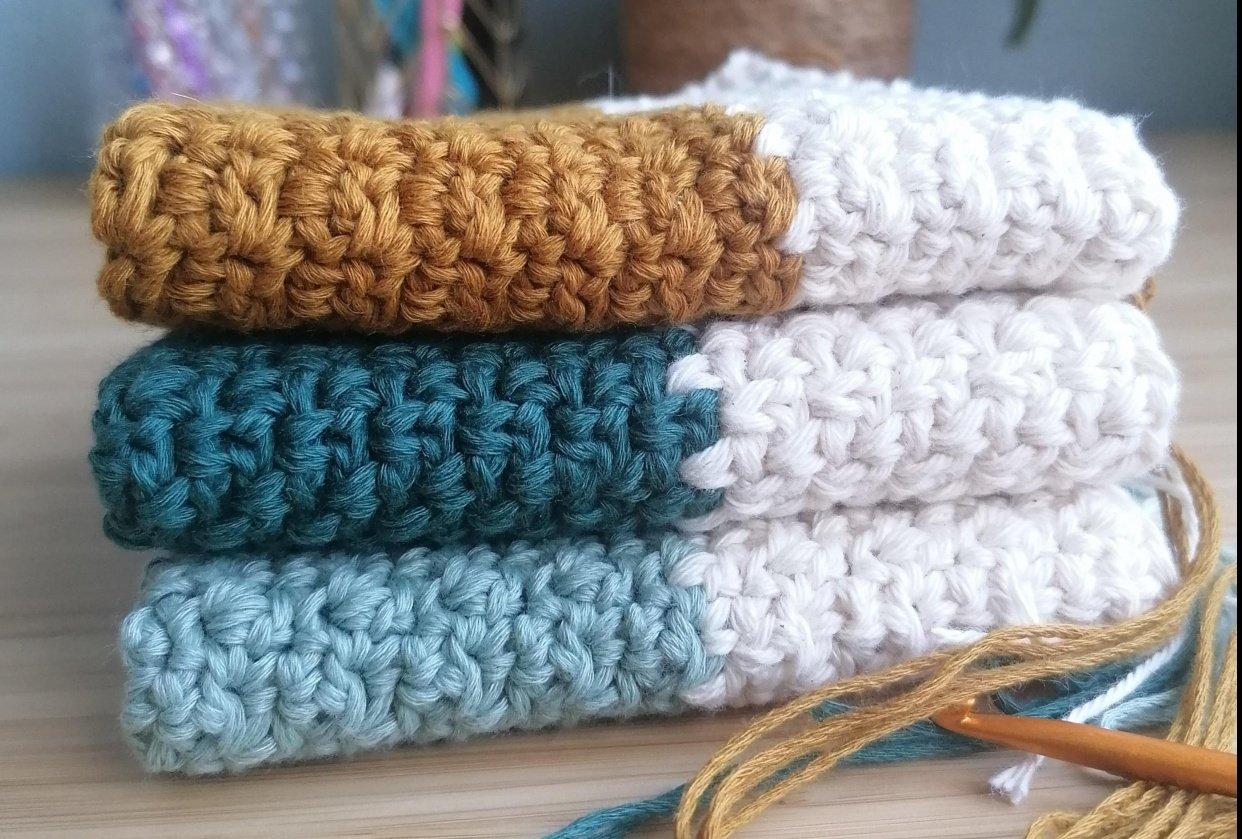 Crochet dishcloth - student project