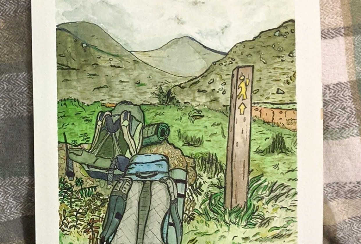 Our backpacks in Co. Kerry, Ireland - student project