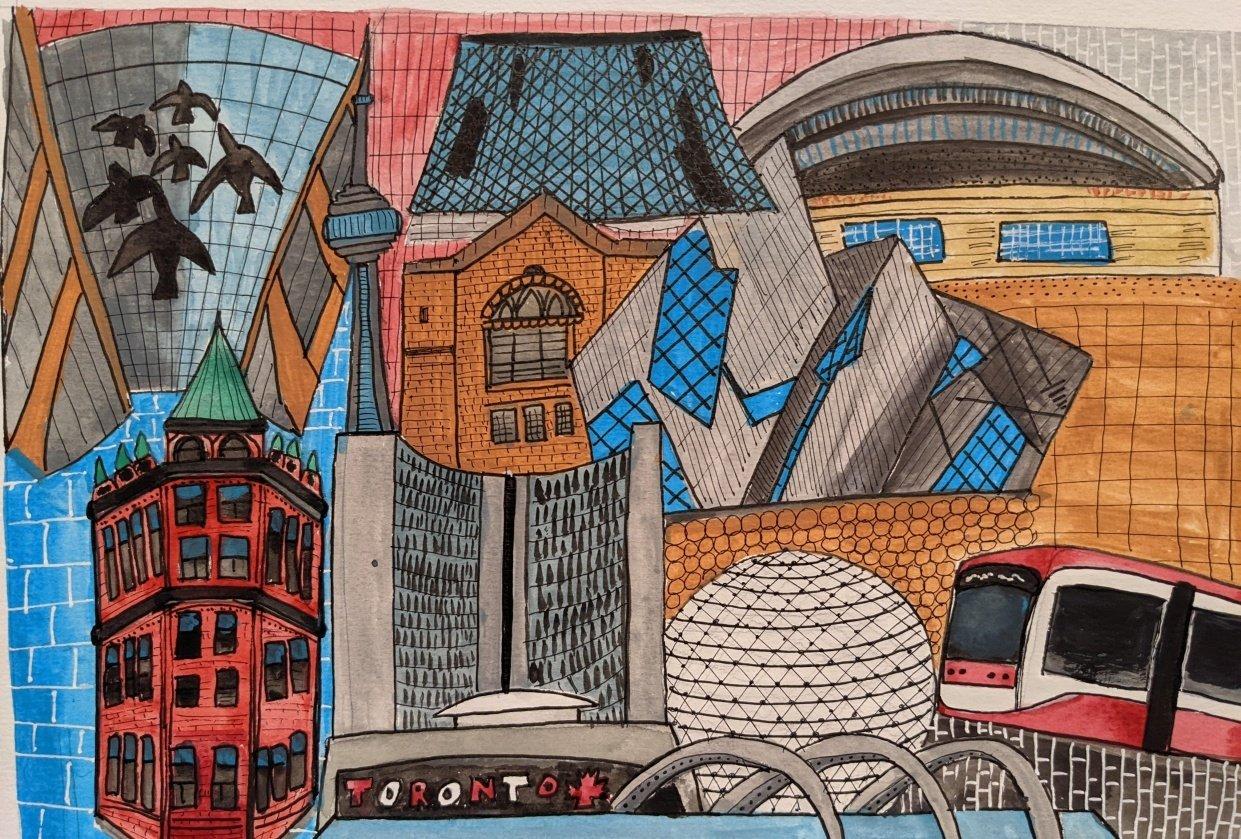 Toronto landmarks - student project