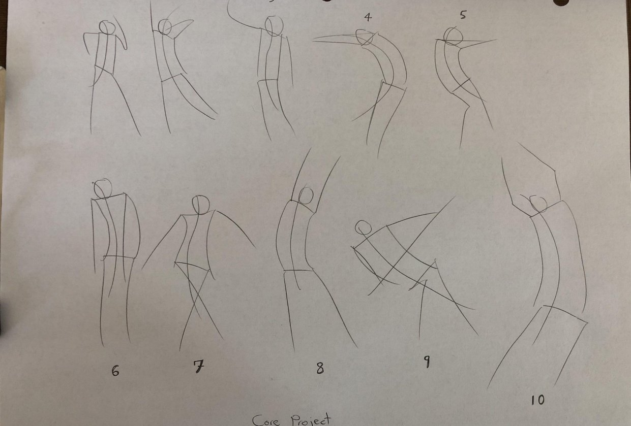 Gesture Drawing Attempts - student project