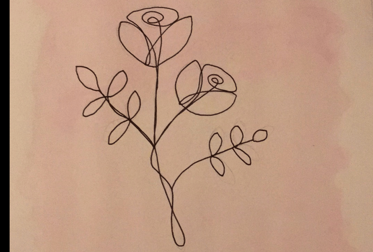 Firs One line drawing - student project