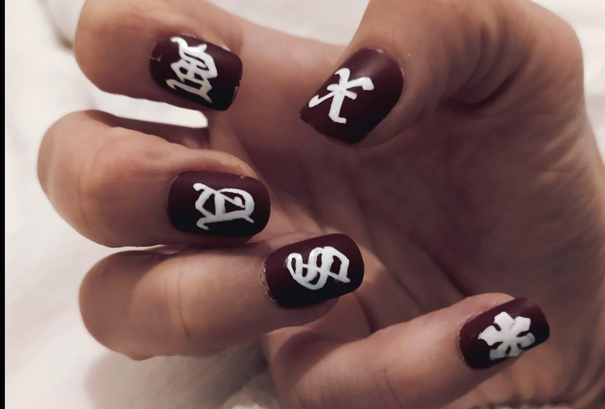xmas nails - student project