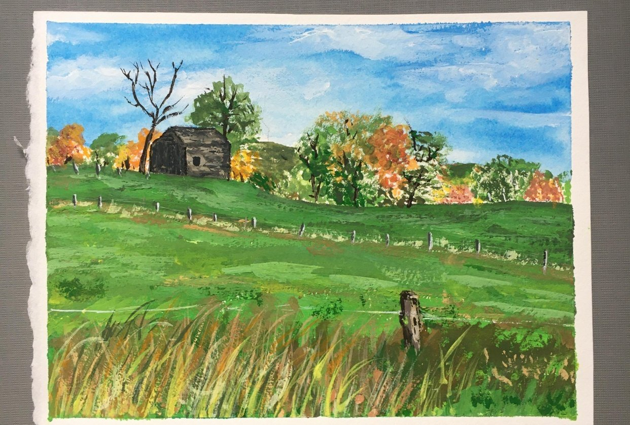 Gouache Landscape - student project
